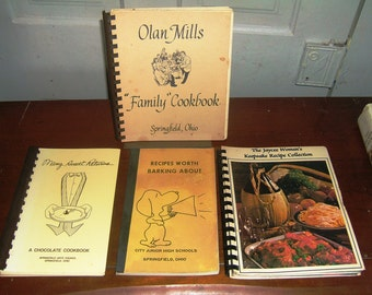 Four Springfield Ohio Cookbooks from the 1980's