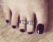 2 Silver Toe Rings, Toe Ring, Midi Toe Ring, Pinky Toe Ring, Knuckle Ring