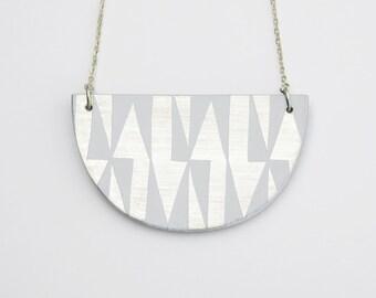 AZTEC Necklace Pastel Grey