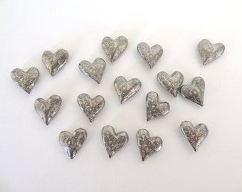 Pewter Heart Tokens or Charms