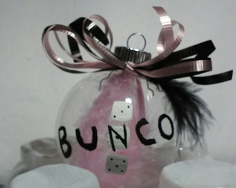 Bunco Feathered Ornament