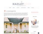 "Wordpress Theme Premade Blog Template Design - ""Hadley Rose"" Instant Digital Download"