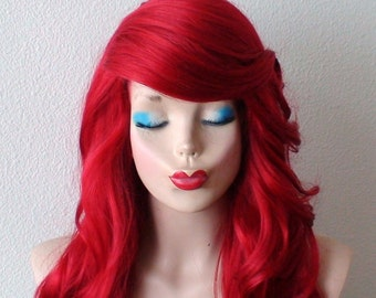 Red wig. Long curly Red hair wig. Durable custom wig. Halloween costumes. Adult Halloween costumes. wig.