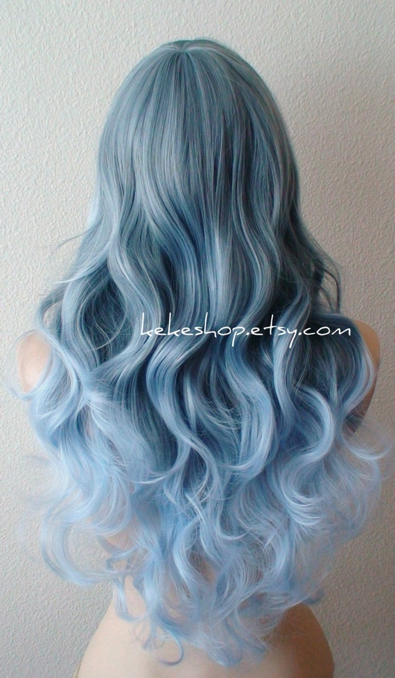 Blue Pastel Hair Colors Ombre Blue Ombre Wig Pastel Silver