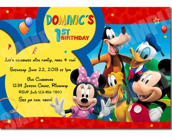 Mickey Mouse Clubhouse Birthday Invitation - Printable Party Invitation