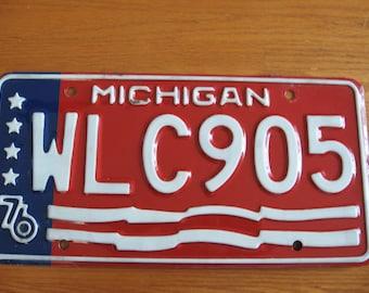 1976 Bicentennial Michigan License Plate