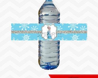 INSTANT DOWNLOAD - Elsa Water Bottle Labels