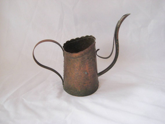 Copper Decorative Watering Can Rustic Garden By