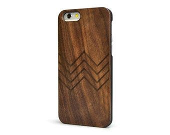 Chevron Wood iPhone 6 Case - Walnut Wood iPhone 6 Case - CBW6-CHEVRON