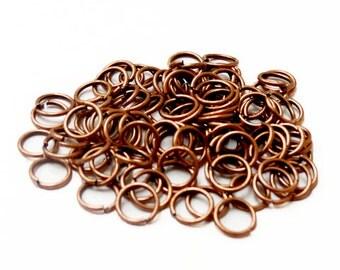 Iron Jump Ring, Copper Color-8mm; 100pcs