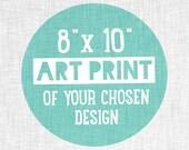 "Custom (8""x10"") Art Print. Modern Islamic Art, Nursery and Home Decor."
