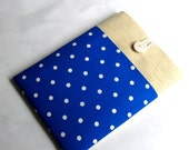 Dell XPS Laptop Sleeve 15 Macbook Case 1415.6 Custom Computer Case for Lenovo with PocketShock Absorbent Foam Padding  Blue Polka Dot