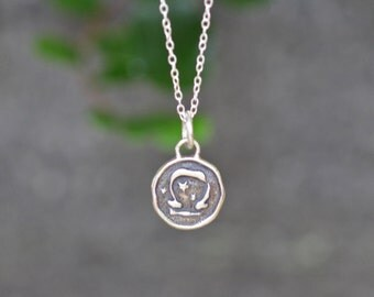 Libra Astrology Zodiac Sign Pendant, Birthday gifts, Zodiac Jewelry, Sterling Silver Chain Included.