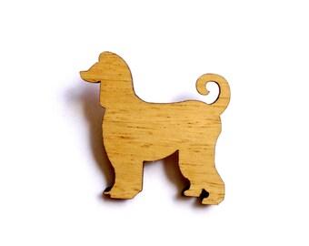 Afghan Hound Dog Brooch laser cut canine