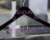 Promotion, Personalized Wedding Hanger with bride name and date, Personalized Custom Bridal Hanger, Brides Hanger, Bridal Gift