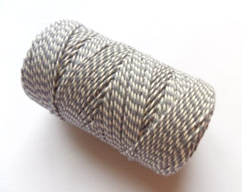 FULL SPOOL Grey & White Baker's Twine - 100m