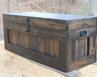 Large Hope Chest/Coffee Table/ Entry/ Trunk/ Wooden Chest/ Ebony