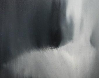 Fine Art Print, Large Painting Print, Black and White, Wall Art Canvas Print, Ballerina Print, Giclee Art Print Modern Contemporary Art