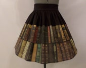 Book Lover High Waist Skirt