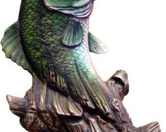 """Driftwood Bass 10 1/2"""" ready to paint ceramic bisque"""
