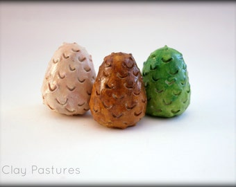 Game of Thrones Inspired Dragon Eggs ((Set of 3))