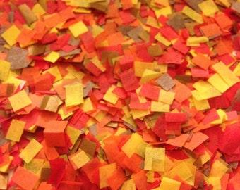 Fall Wedding Confetti - Biodegradable Confetti / Fall Confetti / Confetti to Throw / Biodegradable / Wedding Decoration / Copper Red