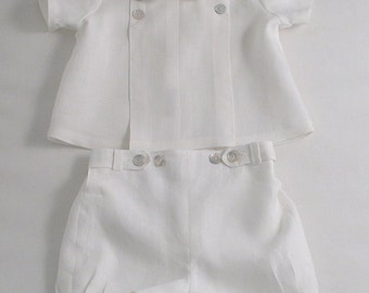 White Linen suit for a Baby Boy