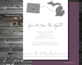 Elopement with States Announcement, Elopement Announcement, We Eloped, Elope Announcement // 5x7 // PRINTABLE // Location