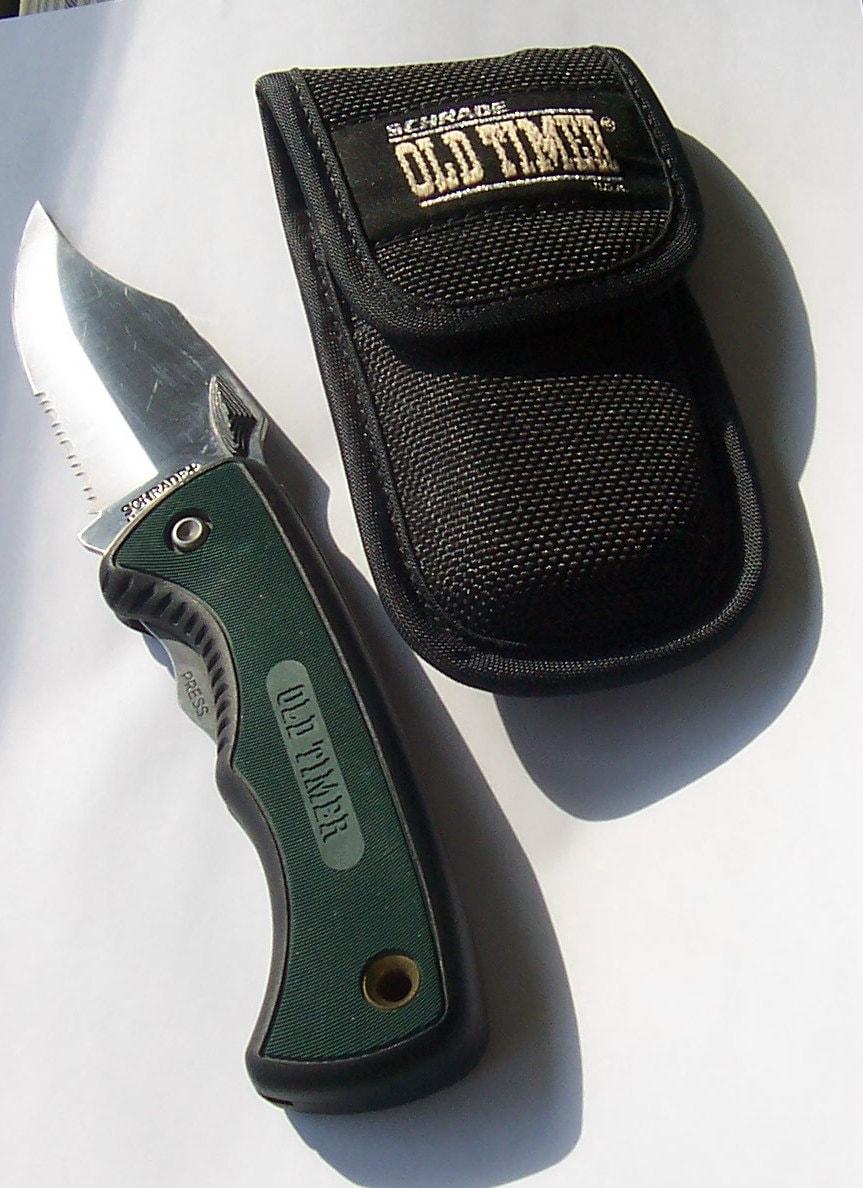 Vintage Schrade Old Timer 470t Lockback Pocket Knife Amp Sheath