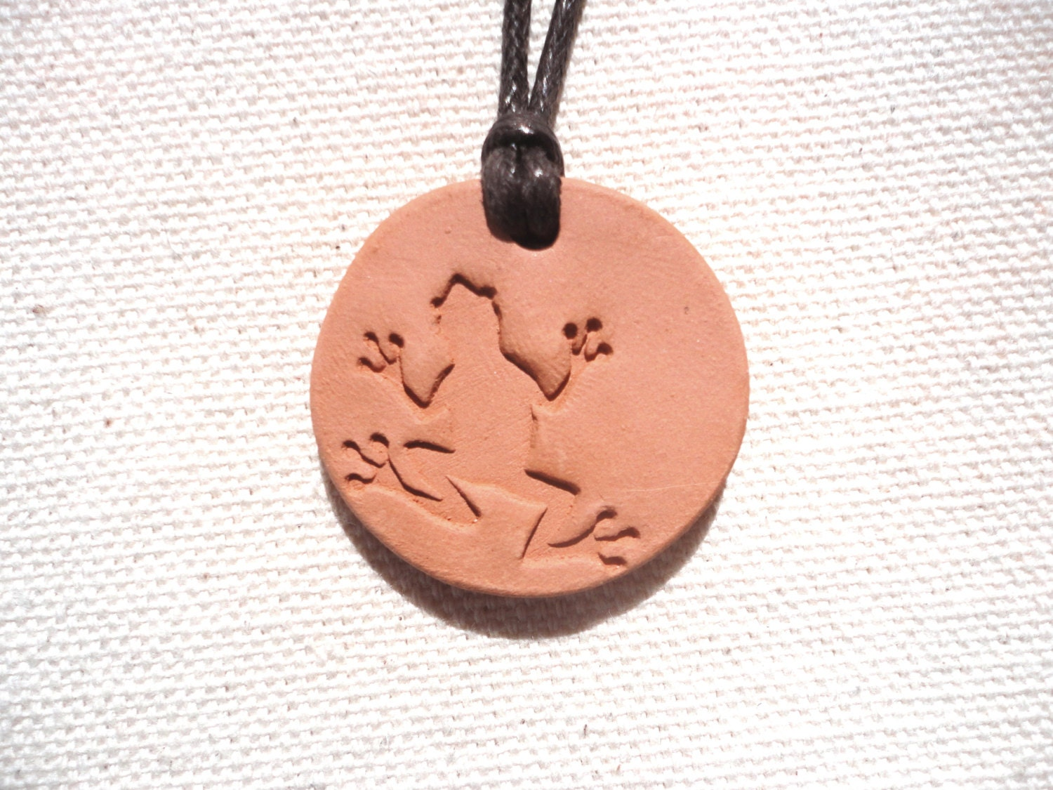 Terracotta Neck Pendant Diffuser ~ Diffuser clay necklace textured terracotta by