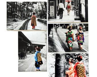 """5er Postkarten-Set """"Kimono"""""""
