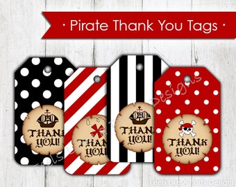 Pirate Thank You Tags- Instant Download