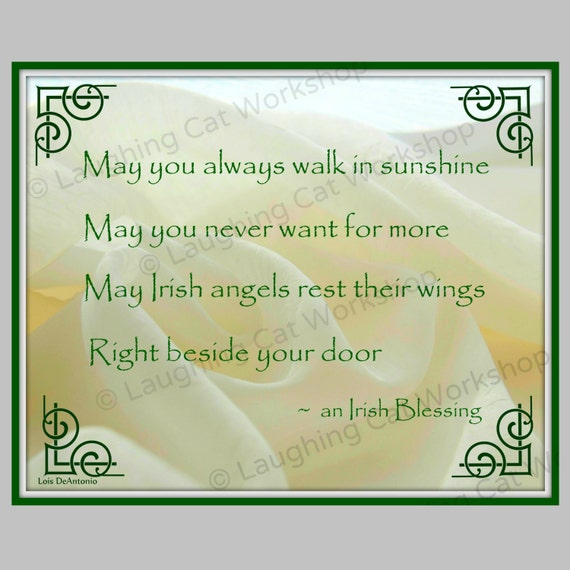 Irish Blessing Irish Quote Housewarming By Laughingcatworkshop