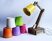 Wooden lamp Desk lamp Reading lamp Night lamp Personalized lamp Leseleuchte Holzleuchte Color accent lamp