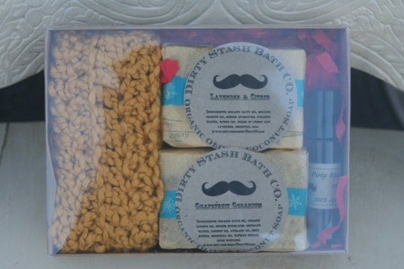 Olive & Coconut Soap Gift Set Essential oils made with Organic oils