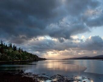 Photography of Ireland,  Bantry Bay, Sunset Photo, Steel Blue, Ireland Landscape,  Emerald Isle Photo