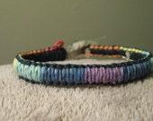 Reversible Rainbow Black Hemp Bracelet PRICE REDUCED!