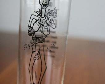 Vintage Tall Texan Facts Tom Collins drink glass
