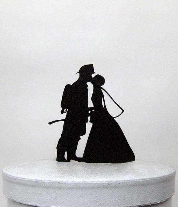 Firefighter Wedding: Wedding Cake Topper Firefighter And Bride Silhouette Wedding