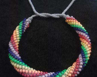 Crochet/Beaded Kandi Necklace