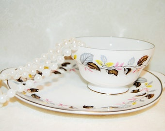 SHELLEY Ferndown Sugar Bowl and Serving Plate, Excellent Condition