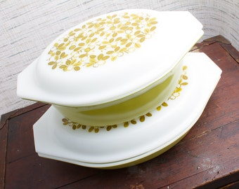 Pyrex Apple Blossom Casserole Baking Dishes