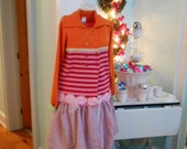 Upcycled Sweater Coat Mad Hatter Teaparty Collection for Girls~Sale  was 38.00!