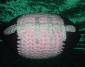 Crocheted Baby Girl Football - Black, Pink and White