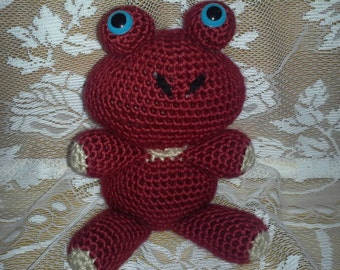 ON SALE - Crocheted Red Froggy