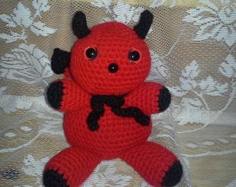 Crocheted Valentines Little Red Devil