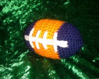 Crocheted Baby Football - Chicago Bears