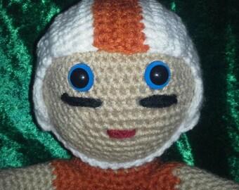 Crocheted Football Player - Texas Longhorns