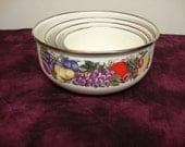Enamelware Bowls 4 piece Set