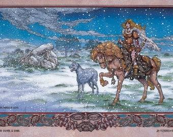 "Celtic Irish Fantasy Art Print Finncheom, Princess of Ulster 8x11""."
